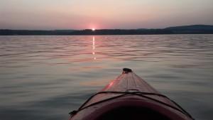 Sunset on the Hudson River Newburgh NY