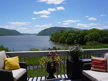 Enjoy sitting on your deck by the Hudson