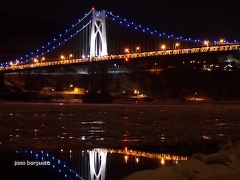 Mid Hudson Bridge in Winter by Janis Borgueta